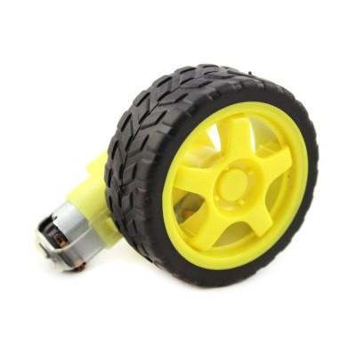 Motor Gear dan Roda Robot